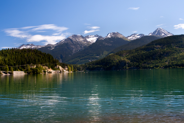 Whistler lake in the summer