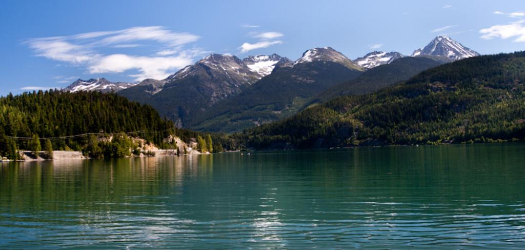 Whistler lake in the summer
